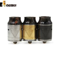 Vente en gros - Plus récents Signus RDA Atomizers avec bord large Drip Tip 24mm PEEK Isolateurs Airflow Control Fit 510 Modes de cigarette électronique