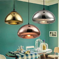 Wholesale tom dixon lighting copper online - Tom Dixon Void Pendant Lamp Void Light Silver Copper Gold Void Pendant Lamp Ceiling Light Fashion Chandelier Lamps