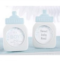 Wholesale baby shower gift frame online - quot It s a Boy quot Classic Blue Baby Bottle Photo Frame Baby Shower Favors Party Giveaway Gift for Guest