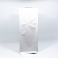 Wholesale Fabric Bellows - 15Pcs Lot Open Top Stand Up Matte Pure Aluminium Foil Package Organ Bags For Coffee Tea Packaging Bellows Bag With Exhaust Valve