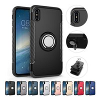 Wholesale Two Phones One Case - For iPhone x Phones Cases Two-In-One Magnetized Thumb Ring Bracket Bulk minion phone cases phone case cellphone case i6s