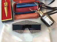 Wholesale Diamond Sunglasses - Limited Edition 0289 Sunglasses Sparkling Diamond Designer Frame Bling Bling UV Protection Top Quality Fashion Summer Sunglasses For Women