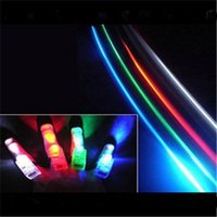 Wholesale Led Torch Toys - The Lighted Toys Multi-Color 4pcs set LED Light Finger Laser Beam Torch Ring Christmas toys 50sets lot Total 200pcs lot Hot Sale