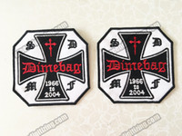 Wholesale gothic motorcycle for sale - Group buy Cool SOCIETY DIMEBAG MEMBER FAN TRIBUTE Christian Embroidered Patch Motorcycle Biker Gothic Punk Patch Iron On