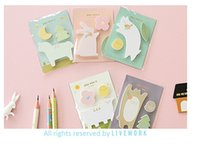 Wholesale Portable Sticky Notes - PASAYIONE Animal Paradise Self-Adhesive Sticky Note Free Shipping Portable Message Slip School Supplies Paperlaria Post It
