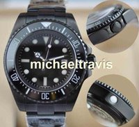 Wholesale Day Pvd - Luxury mens watch wristwatch ceramic bezel original clasp sapphire glass stainless steel pvd black quality limited 116660 Free Shipping Mens