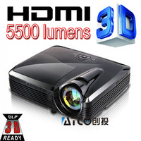 projeções de video venda por atacado-Atacado-Curto Alcance 5500 Lumen Vídeo Digital 3D Full HD DLP Projetor 1080 P Para DEFI sistema de Piso interativo fazer projeção muito grande