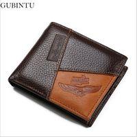 Wholesale Zipper Portfolio - Wholesale- Famous Luxury Brand Genuine Leather Men Wallets Coin Pocket Zipper Men's Leather Wallet with Coin Purse portfolio cartera