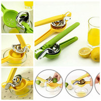 Wholesale Stainless Steel Juice Extractor - 2 Colors High Quality Stainless Steel Hand Press Manual Juicer Lemon Orange Lime Squeezer Kitchen Cookware Fresh Juice Tool CCA6282 50pcs
