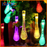Wholesale Blue Led 6v - Premium Quality 6m 30 LED Solar Christmas Lights 8 Modes Waterproof Water Drop Solar Fairy String Lights for Outdoor Garden