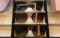 Wholesale Ivory Square Boxes - 2017 Designer Women REVEAL Square SMU04R ivory brown shaded Sunglasses Brand New with Box
