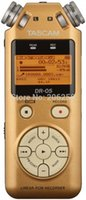 Wholesale Professional Dr - Wholesale- Tascam dr-05 professional voice recorder dr05 gold color digital recordin