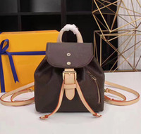 sacos de mochila de moda venda por atacado-2019 Atacado orignal real bolsa de couro Genuíno bolsa mulheres moda back pack bolsa de ombro bolsa presbiopia mini pacote messenger bag