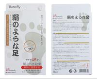 japão borboleta venda por atacado-Japão Borboleta Pé Do Bebê Renovação Máscara Remover Pele Morta Peeling Cutícula xfoliating Borboleta pé do bebê peeling Máscara Do Pé