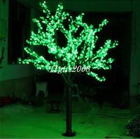 ingrosso ha condotto l'albero artificiale della ciliegia chiara-LED Artificiale Cherry Blossom Tree Light Luce di Natale 1248 pz LED Lampadine 2 m / 6.5ft Altezza 110/220 VAC Antipioggia Uso Esterno Spedizione Gratuita