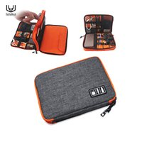 Wholesale Ipad Usb Case - luluhut waterproof Ipad organizer USB data cable earphone wire pen power bank travel storage bag kit case digital gadget devices