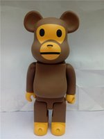 Wholesale Good Gift Girlfriend - Lilytoyfirm 400% bearbrick Bear@brick BABY MILO Replica Art Figure As a Gift Action Figure for Boyfriends ,Girlfriends Christmas Gift.