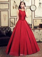 Wholesale Bow Tie Prom Dresses - Formal Evening Dresses V-Neck New 2017 Red Strapless Quinceanera Dresses Bow Tie Long Section Of Elegant Graduation Prom Robe Plue Size