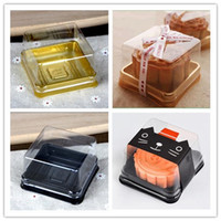 Wholesale muffins plastic packaging resale online - 100pcs sets cm Mini Size Clear Plastic Cake boxes Muffin Container Food Gift Packaging Wedding Supplies