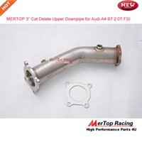 "Wholesale Fsi Audi - Mertop Race 3""High flow Stainless Cat Delete Upper Downpipe, Aud* A4 B7 2.0T FSI TEST PIPE"