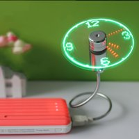Wholesale Timer Led Displays - 25sh Creative True USB Clock Fan Snake Shape Led Electric Fans Real Time Display Dual Purpose For Notebook Computer Durable R