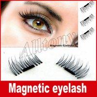 Wholesale Wholesale Eyelash Extension Kit - Permanent Magnetic Eyelash 3D Fake Eyelashes Magnet 4 Pieces  Box=1pair 3D Individual Magnetic Fake Eyelashes Extension kit