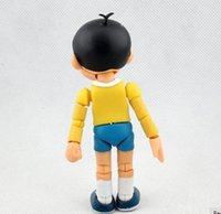 12cm Comic Doraemon Toy Modelo Nobita Nobi Muñecas Figma Lovely Cartoon Robot Cute Japón Anime Acción Mundial