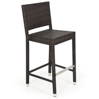 Wholesale New Outdoor Bar Stool Wicker Barstool All Weather Brown Patio Furniture