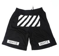 Men oxford pant - mens shorts sprot Off white twill printed leisure black men women shorts homme Pyrex Shorts loose pants of basketball movement HBA