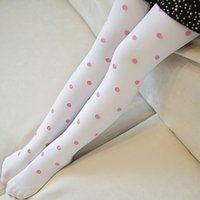 Wholesale ballet pantyhose - Wholesale- (2pairs pack) Baby Girls's Stockings Lovely Candy Color Pattern Jacquard Opaque Velvet Ballet Pantyhose for 4-12years