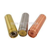 Wholesale E Cigarette Copper - Wholesale- 1pc High quality 4nine mod 4 nine clone copper brass and stainless ss ecig e cigarette e cig mechanical mod VS ar hades Spyrax