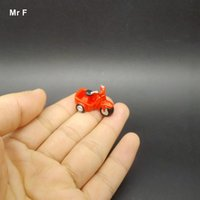Wholesale Toys Tricycle - Fashion Exquisite Mini Red Tricycle Resin Creative Decoration Model Toy Diy Game Educational Prop Teaching Aids