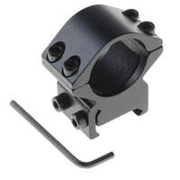 Wholesale Wholesale Flashlight Mounts - NEW 25.4mm Ring weaver Picatinny 20mm rail Mount For Rifle Scope&Flashlight F00035