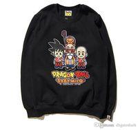 Wholesale Baseball Sweaters - New Arrival Round Neck Personality Men's Sweater Alphanumeric Cartoon Baseball Hoodie Jacket Classic Hip Hop Sweatshirts Tops
