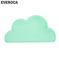 Atacado - Everoca Waterproof Silicone Placemat Bar Mat Baby Kids Nuvem em forma de placa Mat Mat Set Set Home Kitchen Pads