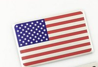 Wholesale Alloy Metal Car Stickers - 3D Aluminum Universal United States American USA Flag Car Sticker National Badge Emblem