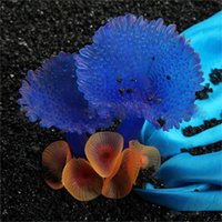 Wholesale Silicone Fish Plant - 1PC Silicone Artificial Plant Coral Decoration Fish Tank Aquarium Accessories DIY Ornament Water Landscape Decor