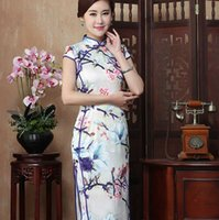Wholesale Dress Improvement - In the new improvement of high-grade real silk qipao fashion ethical wind long wind Chinese style dress