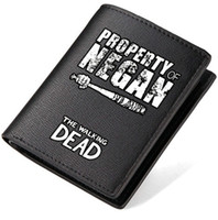 Wholesale Dead Note - The walking dead wallet Property of Negan bar purse Teleplay short long cash note case Money notecase Leather burse bag Card holders