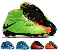 Wholesale Womens Cheap Football Boots - Cheap Kids Mens Womens Soccer Cleats Football Boots Sales Soccer Boots Soccer Shoes hypervenom phantom iii FG kid Green eur 35-45