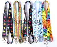 Wholesale stars lite online – custom 20pcs Color star series Neck Lanyard for MP3 cell phone DS lite five colors