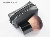 182 brosses de maquillage achat en gros de-HOT Makeup 182 rouge pinceau \ pinceau blusher + sac en cuir DHL livraison gratuite