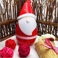 Bluetooth Papai Noel Tumbler Roly-poly Speaker Wireless Natal Pai Natal Speaker Portable Mini Popular Toy Presentes de Natal B3288
