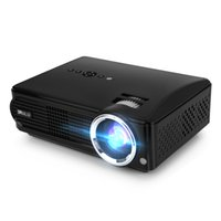 Wholesale Dual Brightness - US Stock! iRULU P4 Projector HD LED Projectors Brightness Native Resolution 1080P Built-in TV Turner Home Theater Projectors