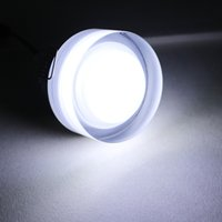 Wholesale 5w Acrylic Ceiling Light - Wholesale- 5pcs 5W Acrylic LED Ceiling Light AC85V-265V Round Shape LED Recessed down light for Indoor General and Display Lighting