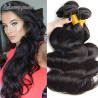 Wholesale Processed Weave Remy - Cheap body wave Peruvian Malaysain Brazilian remy hair extensions unprocessed 100% real human hair weaving 3bundles