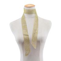 ingrosso donne nere di diamanti-Moda lunga collana girocollo di cristallo oro nero rosa rossa diamante Rehinstone colletto sciarpa estiva per gioielli donna 162073