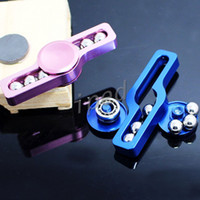 Wholesale Cheapest Aluminum Alloy - Handspinner Toys Triangular Hand Spinner Aluminum alloy Torqbar copper Material Professional Finger gyro For Autism Cheapest Free DHL 100pcs