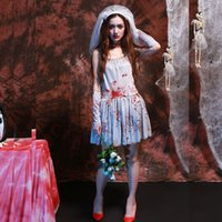 Wholesale Sexy Vampire Brides - Ghost bride sexy vampire dress witch zombie dress adult woman role playing party theme costume Halloween Easter