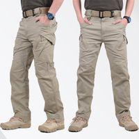 erkekler kargo pantolon satışı toptan satış-Sıcak Satış IX9 Taktik Erkekler Pantolon Savaş Pantolon SWAT Ordu Askeri Pantolon Erkekler Kargo Pantolon Erkekler Için Askeri Stil Rahat Pantolon